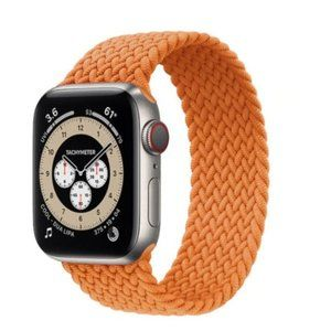 NEW Light Orange Braided Solo Loop For Apple Watch